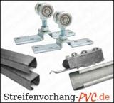 Verschiebbare Laufwerke für PVC Streifenvorhänge