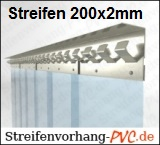 PVC Streifenvorhang - Streifen 200x2mm