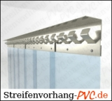 1,75 Meter Breite Transparente PVC Vorhänge in Streifen 200mm x 2mm